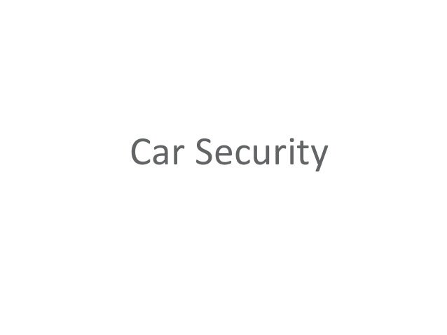 Car Architecture (Reference from: http://knoppix.ru/sentinel/130312.html)