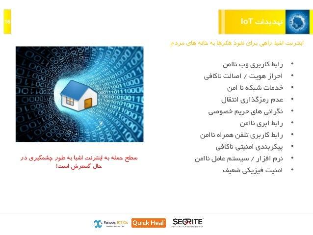 تهدیداتIoT16 مرد های خانه به هکرها نفوذ برای راهی ،اشیا اینترنتم •ناامن وب کاربری رابط •ه...