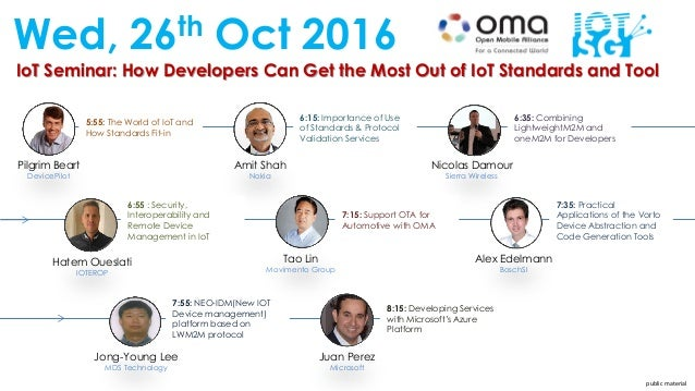 IoT Seminar: How Developers Can Get the Most Out of IoT Standards and Tool Wed, 26th Oct 2016 Pilgrim Beart DevicePilot Am...