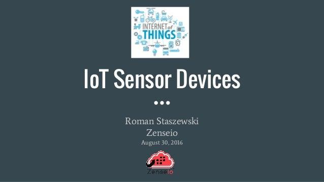 Iot Sensor Devices