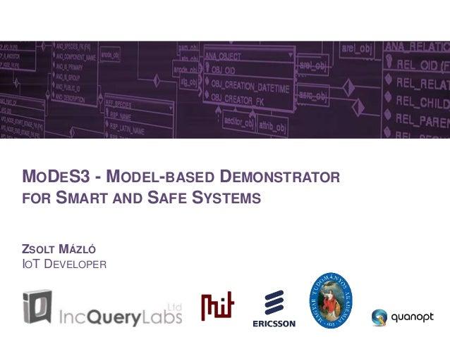 MODES3 - MODEL-BASED DEMONSTRATOR FOR SMART AND SAFE SYSTEMS ZSOLT MÁZLÓ IOT DEVELOPER
