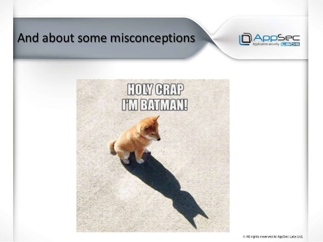 And about some misconceptions