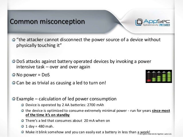 """Common misconception """"the attacker cannot disconnect the power source of a device without physically touching it"""" DoS atta..."""