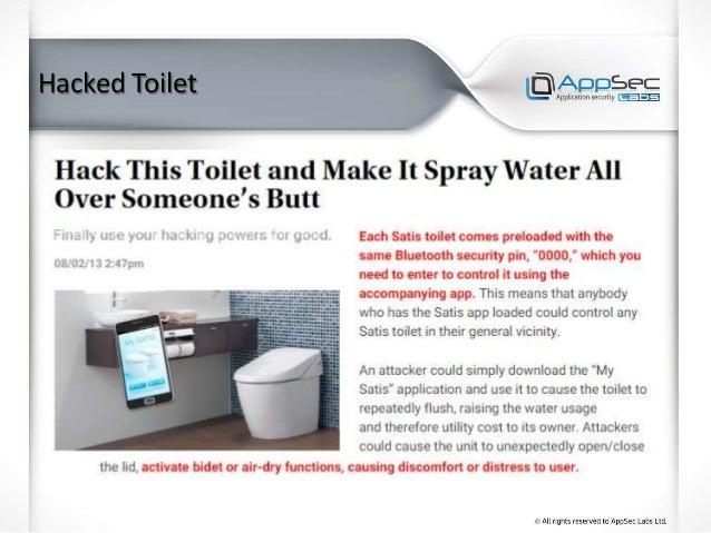 Hacked Toilet