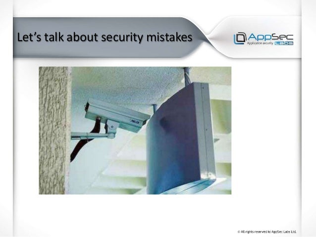 Let's talk about security mistakes