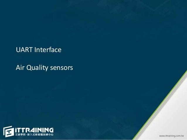 UART Interface Air Quality sensors