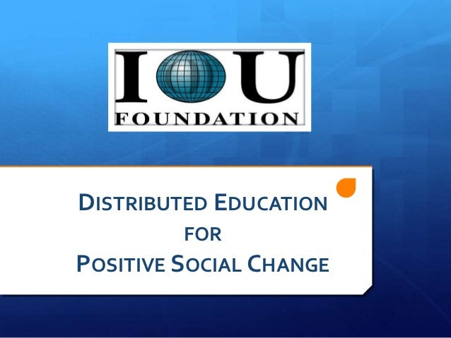 positive social change in education
