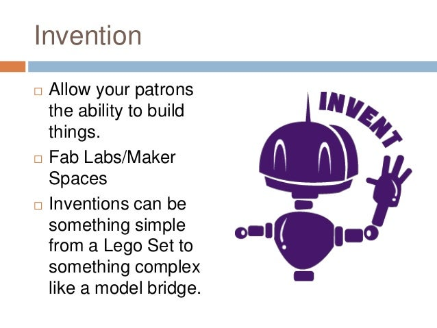 """Evolve: A Library Playground   Fab Lab / """"Hackerspace""""    A  location where people with common interests,      usually i..."""