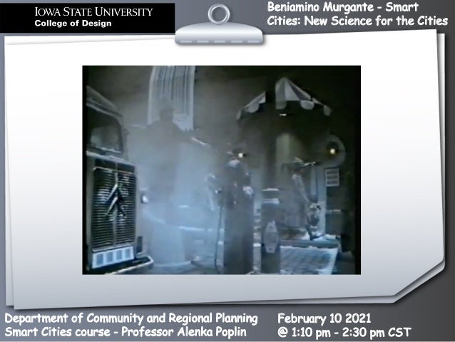 Smart Cities: New Science for the Cities Slide 2