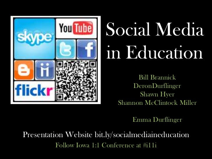 Social Media in Education<br />Bill Brannick<br />DeronDurflinger<br />Shawn Hyer<br />Shannon McClintock Miller <br />Emm...