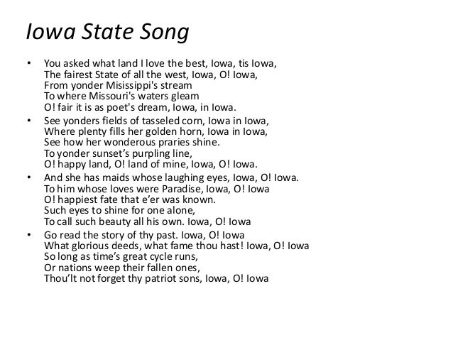 USA State Song: Iowa - The Song of Iowa - YouTube