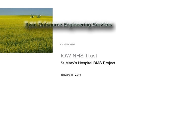 IOW NHS Trust St Mary's Hospital BMS Project