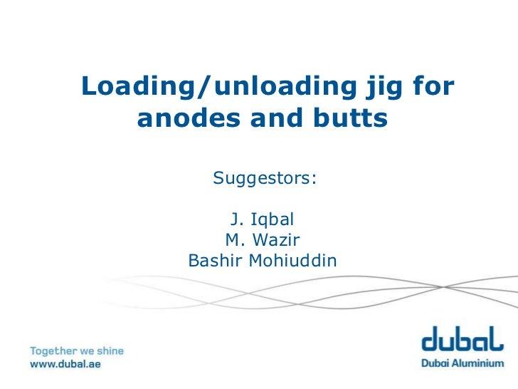 Loading/unloading jig for   anodes and butts         Suggestors:           J. Iqbal           M. Wazir       Bashir Mohiud...