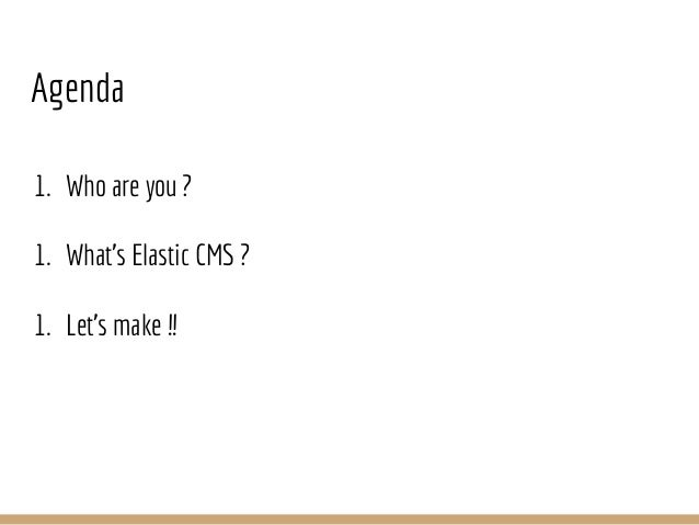Let's make elastic cms together! Slide 2