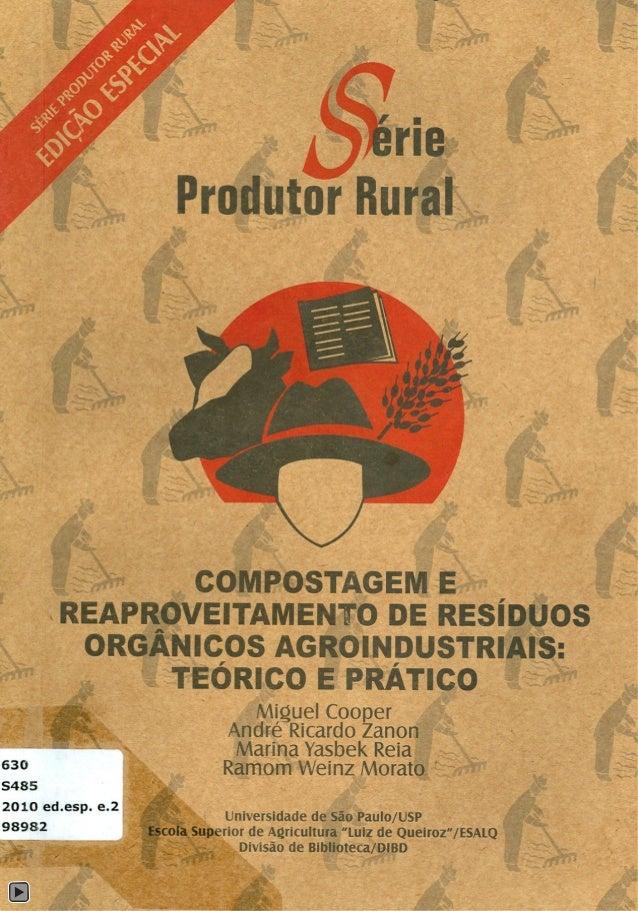 """ISSN - 1414-4530 Universidade de São Paulo - USP Esccla Superior de Agricultura """"Luiz de Queiroz· - ESALQ Divisão de Bibli..."""