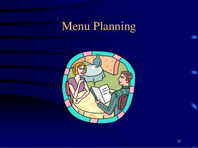 Menu Planning 17