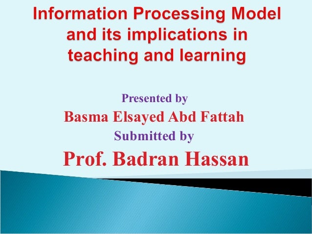 Presented by Basma Elsayed Abd Fattah Submitted by Prof. Badran Hassan