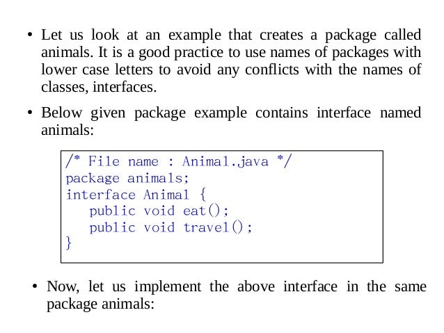 Java - Interfaces & Packages
