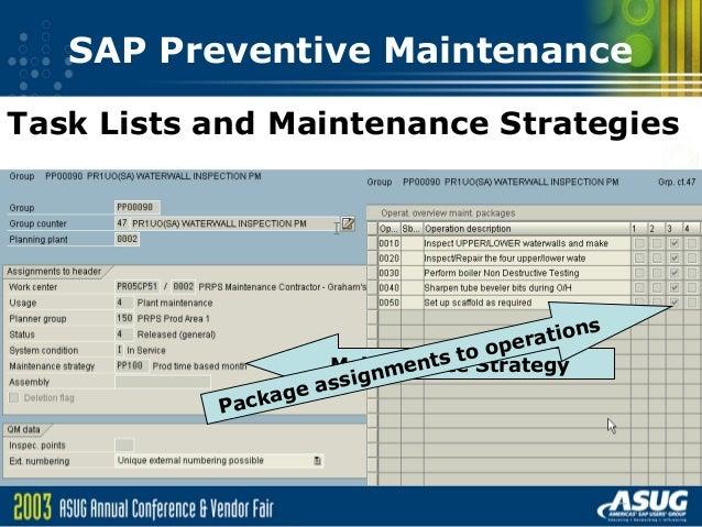 sappreventive maintenance