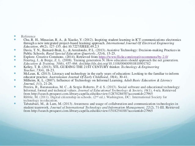  Reference  Chu, R. H., Minasian, R. A., & Xiaoke, Y. (2012). Inspiring student learning in ICT communications electroni...