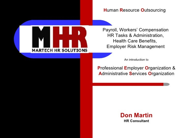 Don Martin HR Consultant Payroll, Workers' Compensation HR Tasks & Administration, Health Care Benefits,  Employer Risk Ma...