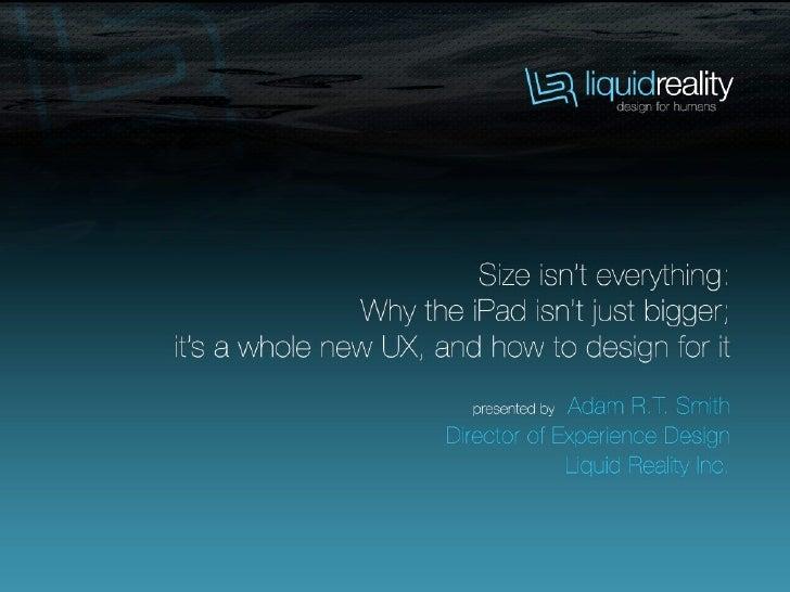 Adam R.T. Smith   CEO/ Director of Experience Design