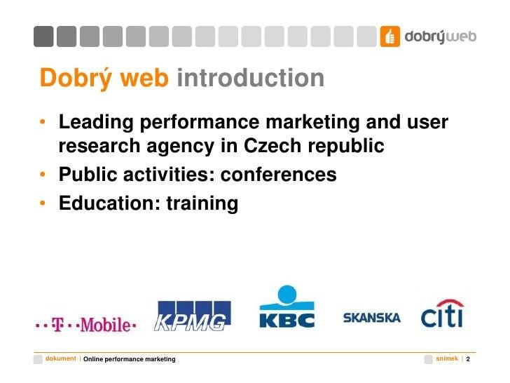 Online performance marketing Slide 2
