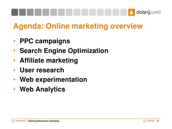 Online performance marketing Slide 3