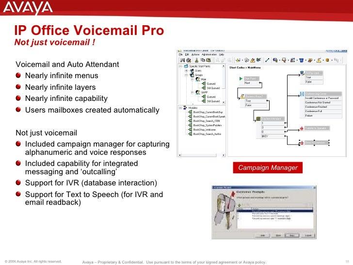 avaya ip office presentation updated rh slideshare net Avaya Phone System Avaya IP Office Voicemail Set Up