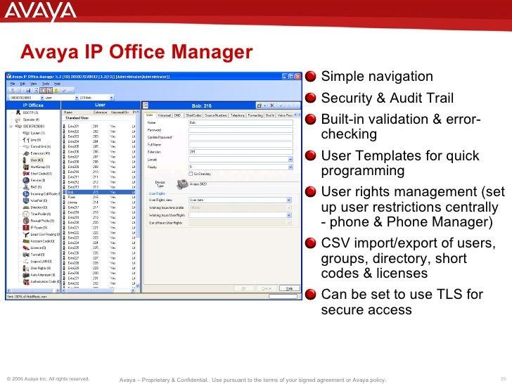 Avaya ipo manager download