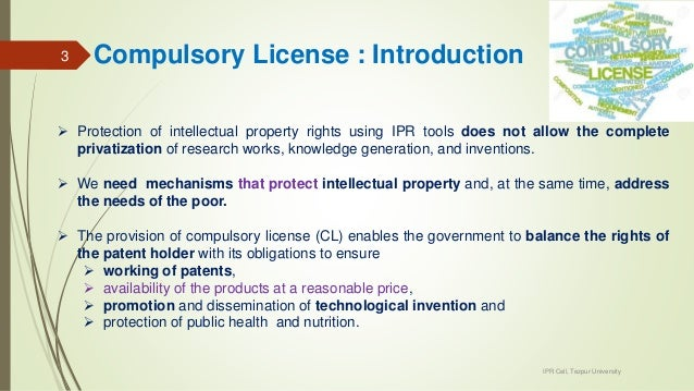 compulsory licensing case study Copyright law revision studies   study no5, the compulsory license  in construing the then-existing copyright statute, in the oft-cited case.