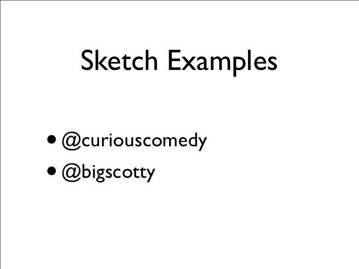 How to Write Sketch Comedy