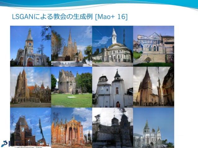 GANによる花の⽣生成例例 25