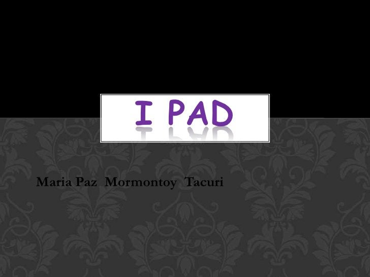 I PADMaria Paz Mormontoy Tacuri