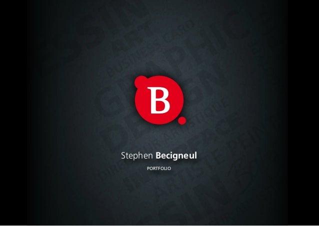 Stephen Becigneul     Portfolio