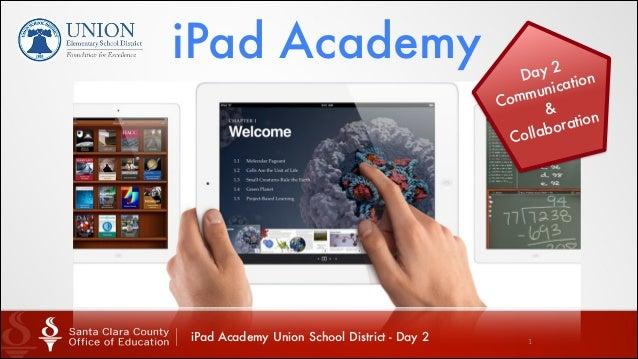 iPad Academy  iPad Academy Union School District - Day 2  y2 Da tion nica mu Com & tion ora llab Co  1