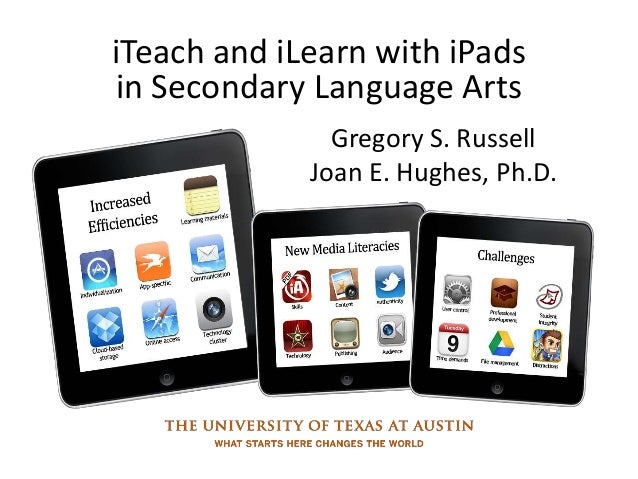 iTeach and iLearn with iPadsin Secondary Language ArtsGregory S. RussellJoan E. Hughes, Ph.D.