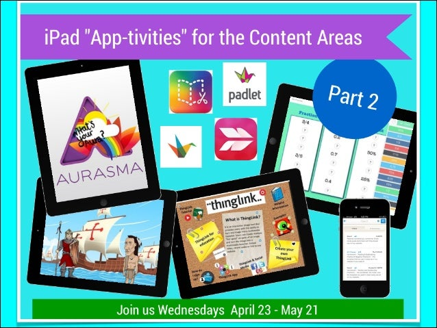 "My ""secret"" webpage for ""iPad App-tivities for the Content Area Part 2"""