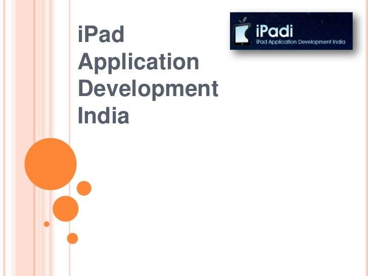 iPadApplicationDevelopmentIndia