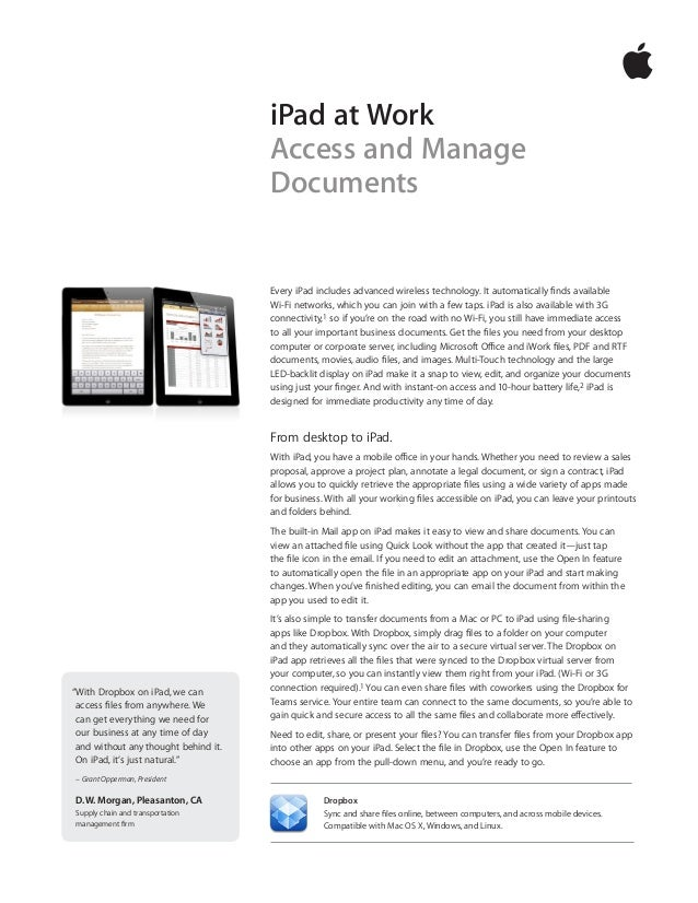Every iPad includes advanced wireless technology. It automatically finds available Wi-Fi networks, which you can join with...