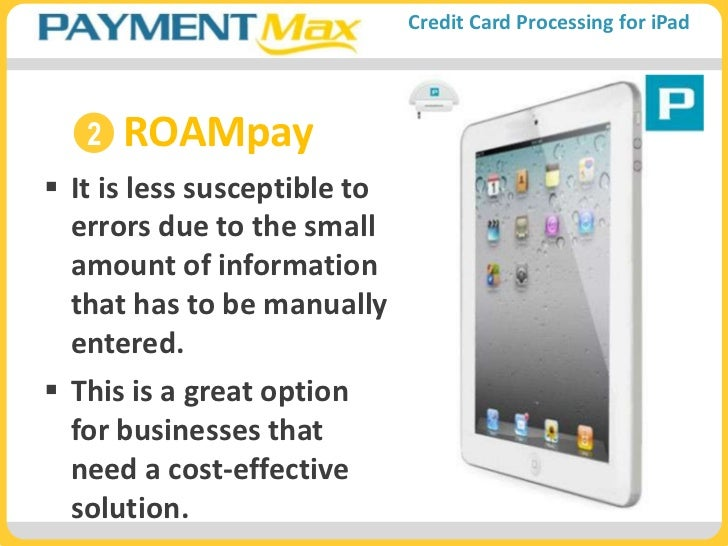 iPad Credit Card Processing App for Small Business