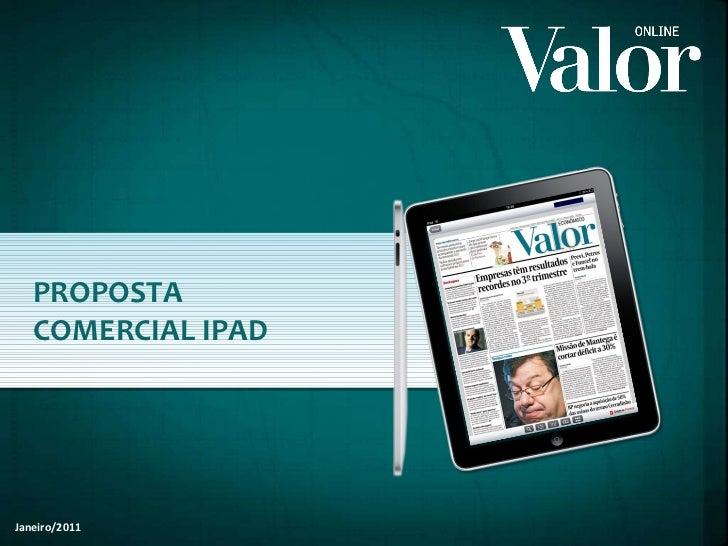 PROPOSTA COMERCIAL IPAD Janeiro/2011