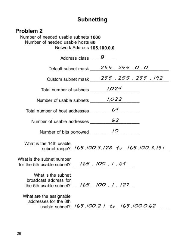 ip addressing and subnetting workbook Ip addressing and subnetting workbook answers 34 pdf as we progress in the  chapter, we will start to discuss vlsm (variable length subnet ip addressing.
