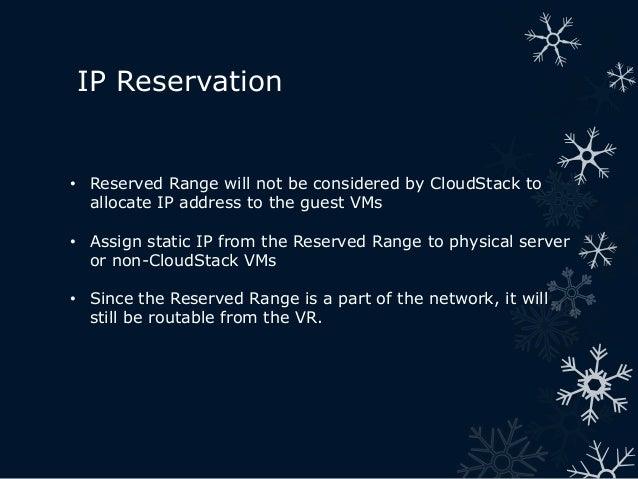 IP Address Reservation in CloudStack