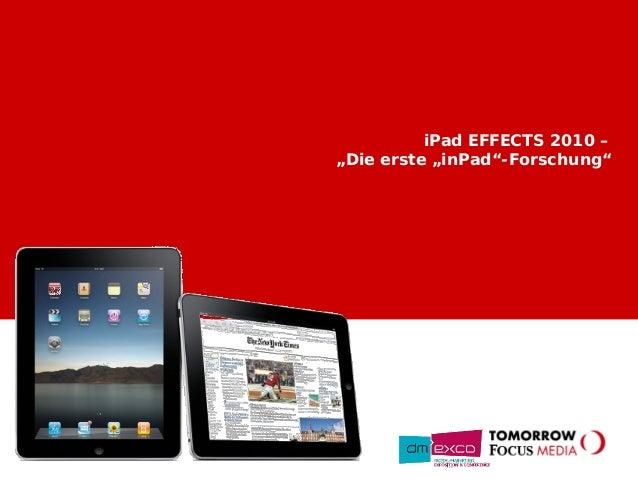 "iPad EFFECTS 2010 – ""Die erste ""inPad""-Forschung"""