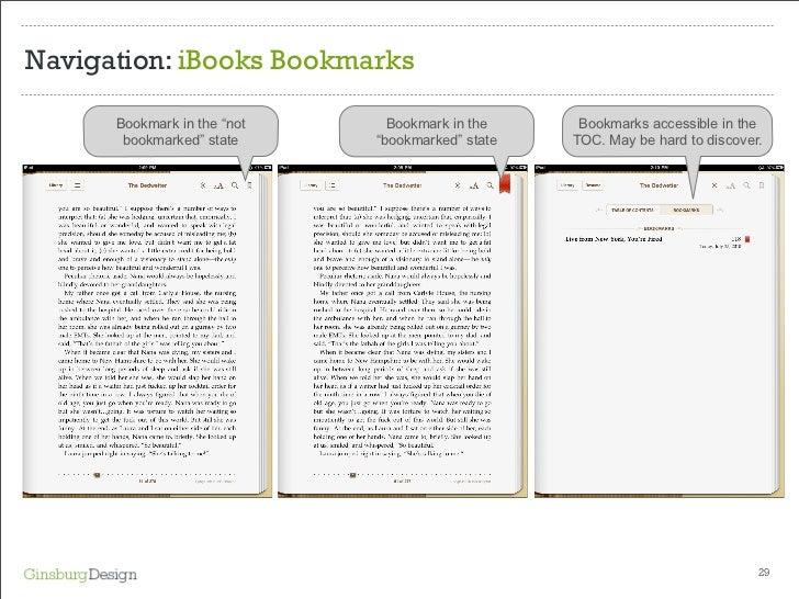 Navigation Ibooks Bookmarks Bookmark In
