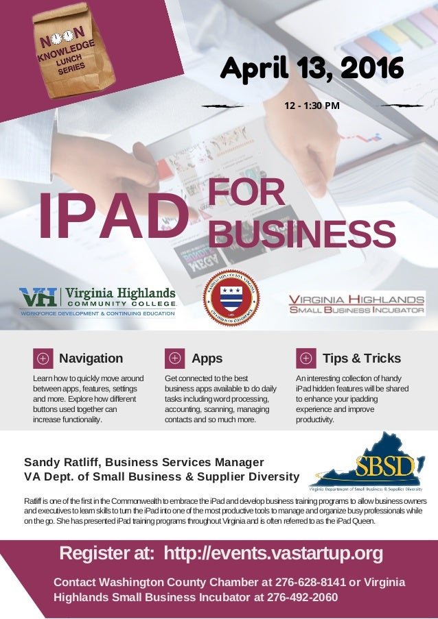 IPAD FOR BUSINESS Navigation Apps Tips & Tricks Learn how to quickly move around between apps, features, settings and more...