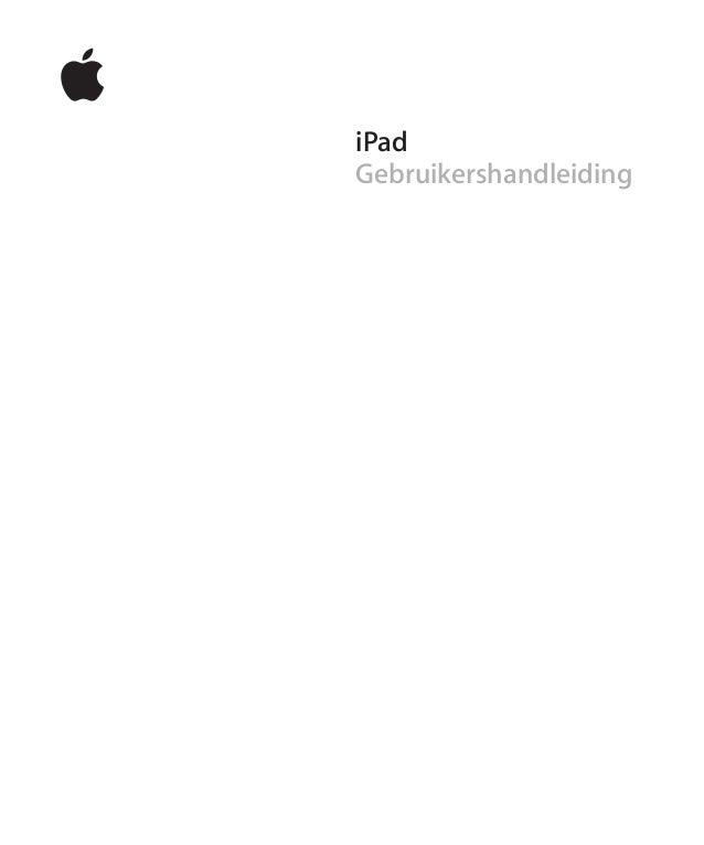 iPad Gebruikershandleiding