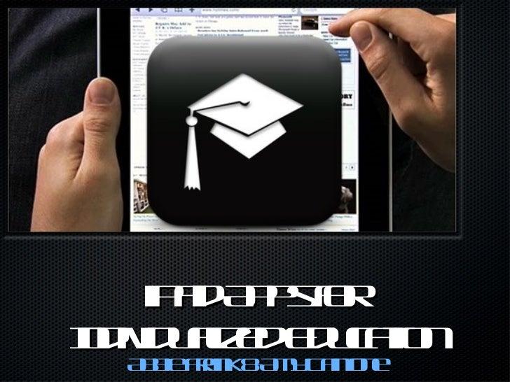 iPad Apps for  Individualized Education <ul><li>Abbie Frank & Amy Cantone </li></ul><ul><li>S </li></ul>
