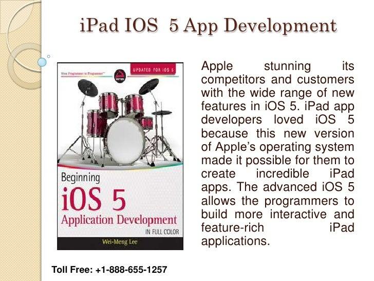 iPad IOS 5 App Development                             Apple        stunning     its                             competito...